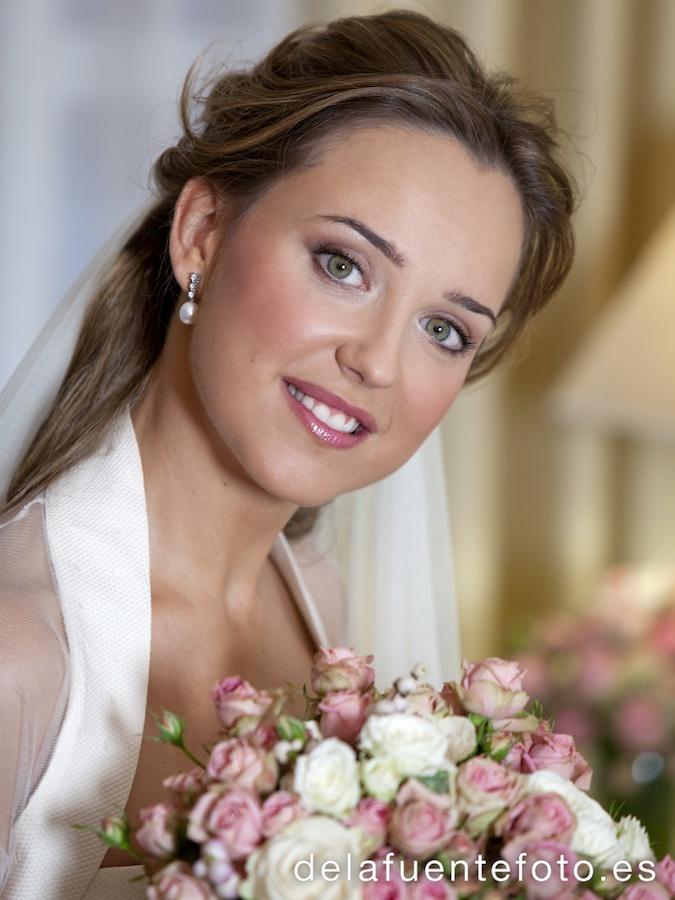 Bonita fotografia de su boda en casa de la novia