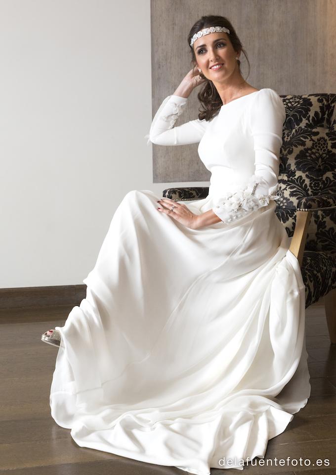 novia sentada
