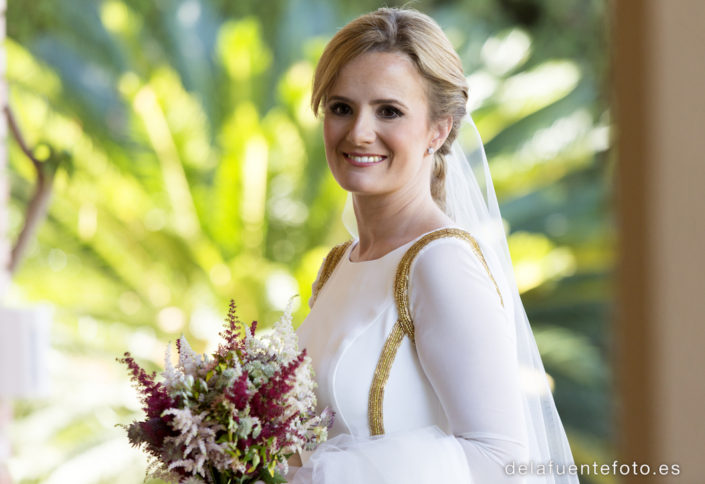 Primer plano de la novia