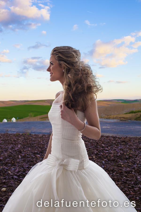 Peinado de la novia antes de bailar