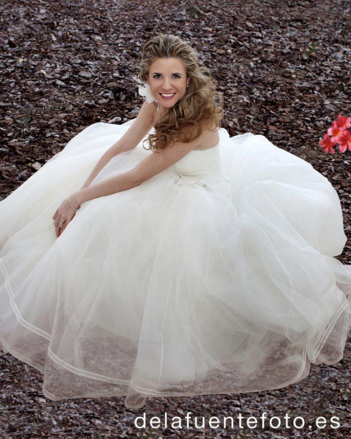 Foto de la novia tras cambiarse el peinado