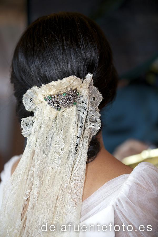 Detalle del velo de la novia