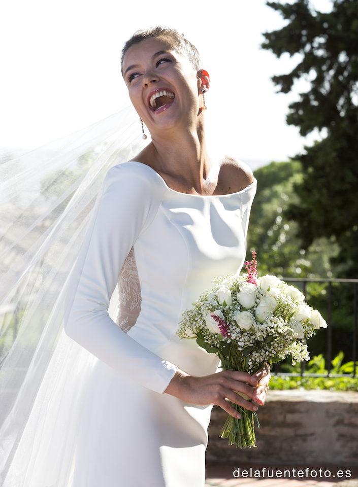 sonrisa de la novia